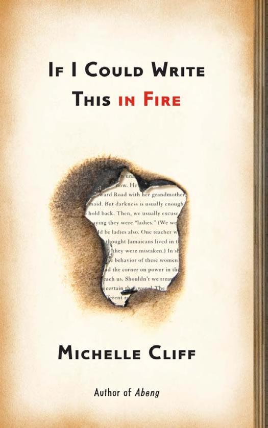 If I could write this in fire by Michelle Cliff